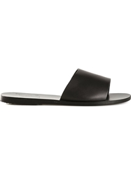 Ancient Greek Sandals 'Taygete' Mules Black