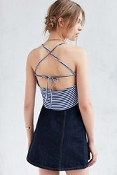 Truly Madly Deeply Disco Cropped Cami Navy