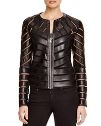 Bagatelle Cutout Faux Leather Jacket Black