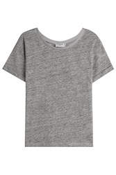 Frame Denim Linen T Shirt Grey