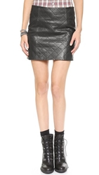 Love Leather The Quilted Straight Skirt Black