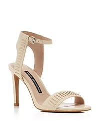 French Connection Linna High Heel Ankle Strap Sandals Barley Sugar