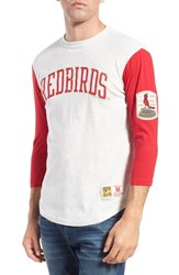 Men's Mitchell And Ness 'St. Louis Cardinals Extra Out' Tailored Fit Three Quarter Baseball T Shirt