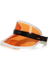 Fendi Leather Trimmed Pvc Visor