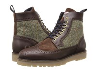 Fred Perry Northgate Boot Harris Tweed Leather Dark Chocolate Men's Boots Brown