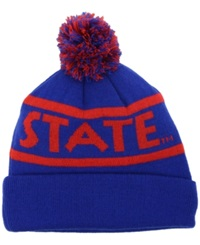 Top Of The World Georgia State Panthers Slugfest Pom Knit Hat Royalblue Red