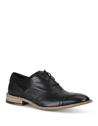 Andrew Marc New York Henry Lace Up Leather Oxfords Black
