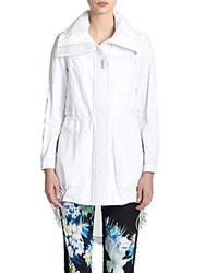 Elie Tahari Leia Cotton Blend Coat White