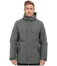 The North Face Grays Harbor Insulated Parka Spruce Green Tweed Men's Coat