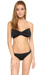 Kate Spade Georgica Beach Bow Bandeau Bikini Top Black