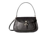 Calvin Klein Corinna Jetlink Tuled Hobo Black Gold Hobo Handbags