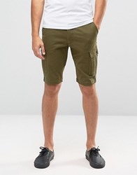 Jack And Jones Cargo Shorts In Skinny Fit Olive Nght Green