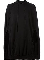 Unravel 'French Terry' Cape Black