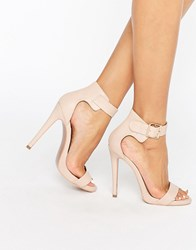Truffle Collection Barely There Sandal Nude Pu Beige
