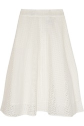 Iris And Ink Rachelle Broderie Anglaise Cotton Midi Skirt