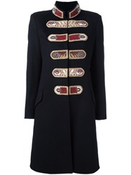 Ermanno Scervino Fitted Military Coat Black
