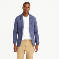 J.Crew Ludlow Summerweight Cotton Linen Blazer In Navy Fine Stripe
