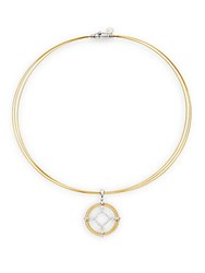 Alor Diamond 18K Yellow Gold And Stainless Steel Layered Pendant Necklace