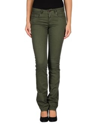 Caractere Casual Pants Military Green