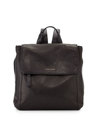 Cole Haan Felicity Flap Top Leather Backpack Black