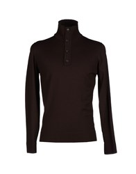 Alpha Massimo Rebecchi Knitwear Turtlenecks Men Dark Brown