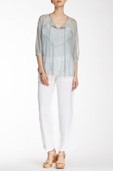 Johnny Was Linen Soft Pant White