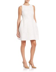 Calvin Klein Lace Fit And Flare Dress Cream
