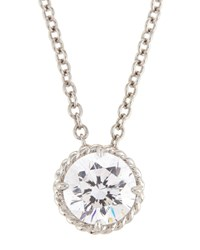 Fantasia By Deserio White Cz Crystal Pendant Necklace Women's