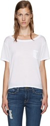 Frame Denim White Le Boxy T Shirt