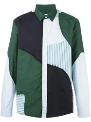 Soulland 'Patchwork' Shirt Green