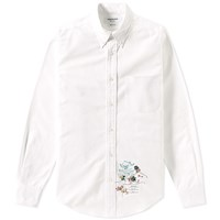 Thom Browne Palace Embroidery Classic Shirt White