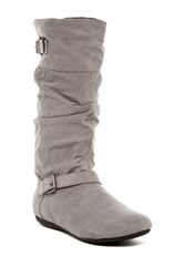 Report Emile Slouch Buckle Boot Gray