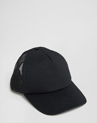 Asos Trucker Cap In Black Black