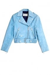 Acne Mape Petite Cropped Suede Biker Jacket By Acne