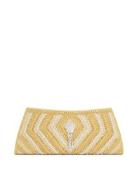 Micky London Beaded Clutch Silver Gold