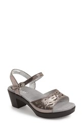 Women's Alegria By Pg Lite 'Reese' Cutout Sandal Uptown Pewter Leather