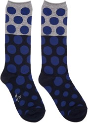 Y's Blue Dot Socks