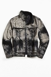Bdg Diy Bleached Denim Trucker Jacket Black