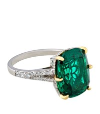 Carat Fancy Emerald Ring Female Silver