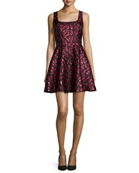 Diane Von Furstenberg Sleeveless Minnie Midnight Kiss A Line Dress Oxblood Black Size 14 Lacquer Red Oxblo