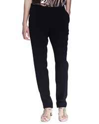 Lanvin Grosgrain Trim Pajama Inspired Silk Pants 42 10