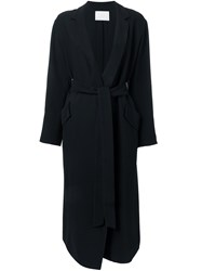 Rito Belted Single Breasted Coat Black