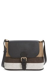 Burberry 'Gowan' Canvas Check Print And Leather Crossbody Bag