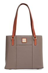 Dooney And Bourke 'Small Lexington Pebble Grain Collection' Water Resistant Leather Shopper Grey Elephant