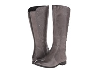 Born Larsen Elephant Grey Full Grain Leather Women's Zip Boots Gray