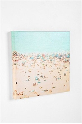 Canvas Print Art Coney Island Beach Photography By Minagraphy