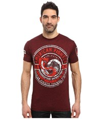 American Fighter Humbolt Short Sleeve Crew Tee Rusted Red Men's T Shirt Orange