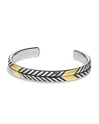 Chevron Cuff Bracelet With Gold David Yurman