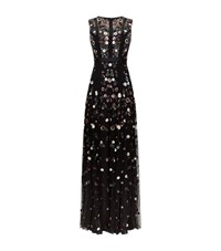 Needle And Thread Floral Ombre Embellished Gown Female Black