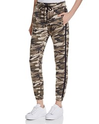 Honey Punch Camo Sweatpants Green Camo